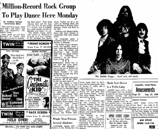 - -Million-Record Rock Group [ To Play Dance Here...