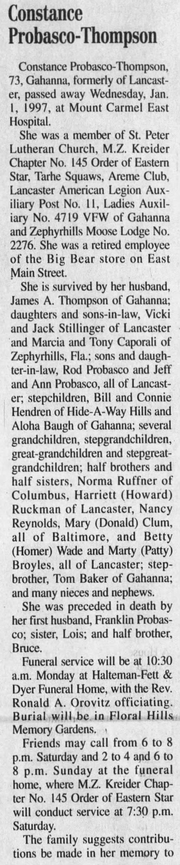 Constance Probasco-Thompson(Broyles) obituary - Constance Probasco-Thompson Probasco-Thompson...