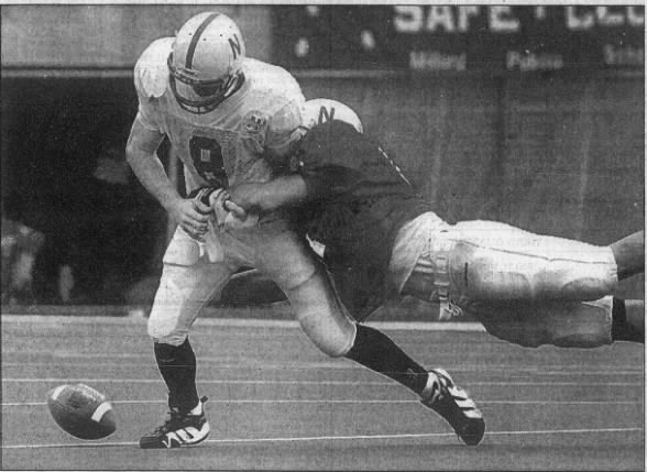 1997 Nebraska spring game, Aaron Wills and Jeff Perino