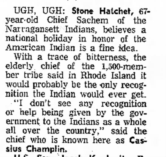 - UGH, UGH: Stone Hatchet, 67- year-old Chief...