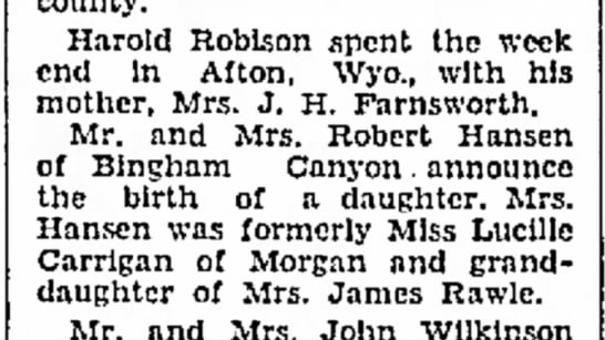 1934 Roslyn's birth