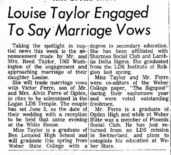 Victor and Louise Taylor Ferre - Louise Taylor Engaged To Soy Marriage Vows...