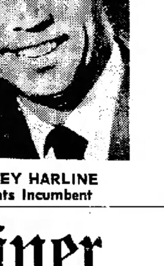 1967 election results - HARLINE Incumbent