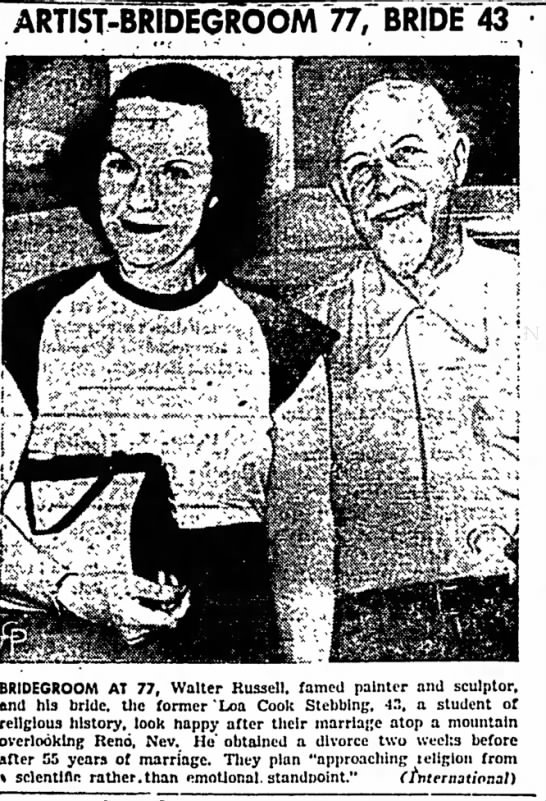The Mount Pleasant News (Mount Pleasant, Iowa) 3 August 1948  Page 4 - to ARTIST-BRIDEGROOM 77, BRIDE 43 GIRL...