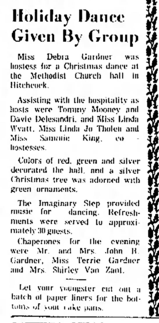 WOW!  I don't remember this. - Club was Holiday Dance Given By Group Miss...