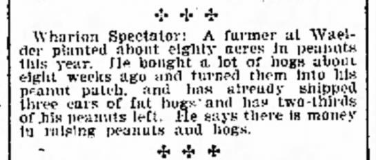 - to who on ·:· * * Wharton Spectator: A farmer...