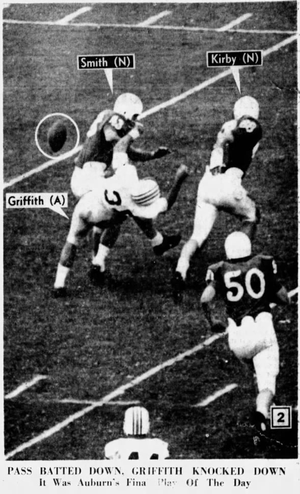 1964 Orange Bowl, Auburn's last play 2