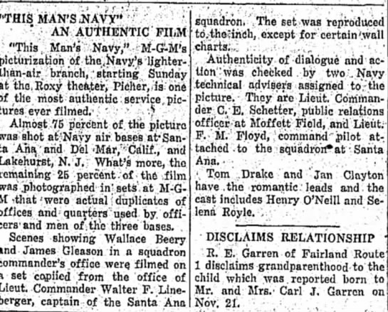 """This Man's Navy Description - """"THIS MAN'S .NAVY"""" """" ' • _ AN AUTHENTIC FILM..."""