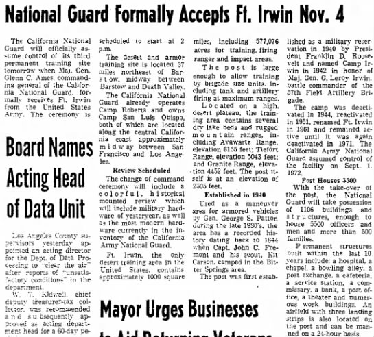 - National Guard Formally Accepts Ft. Irwin Nov....