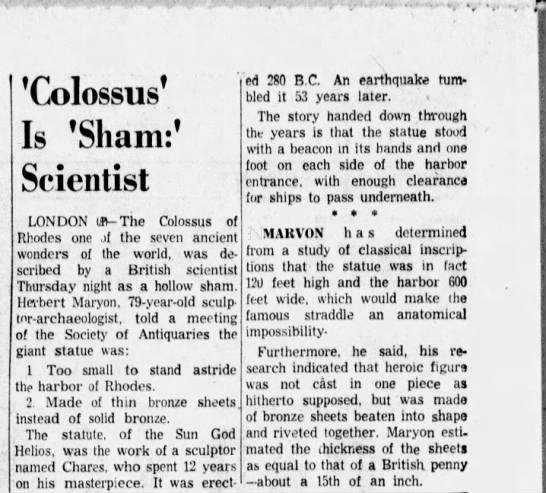 'Colossus' Is 'Sham:' Scientist