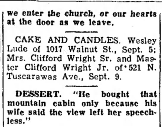 Wesley Lude, The Daily Reporter, Dover, OH 