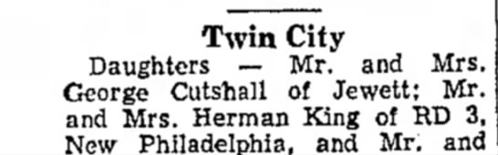 - Twin City Daughters — Mr. and Mrs. George...
