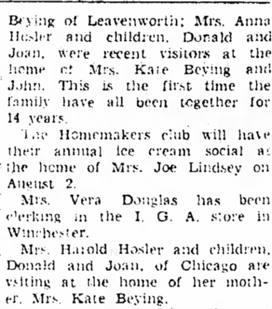 Katie & John beying 8/2/1945