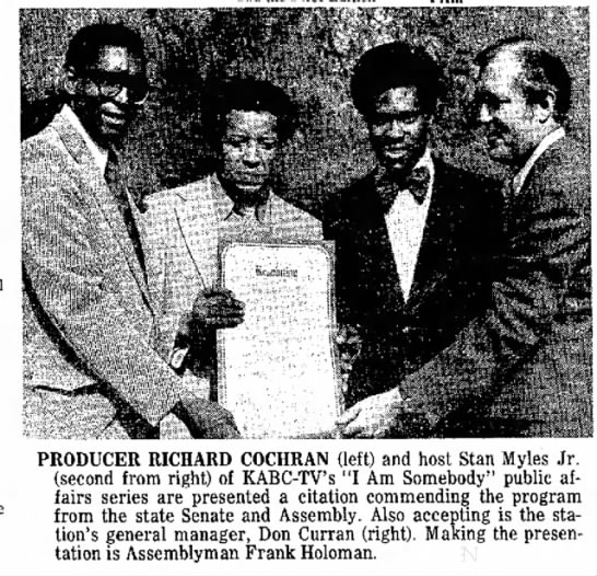 "Stan Myles - of ""The PRODUCER RICHARD COCHRAN (left) and..."