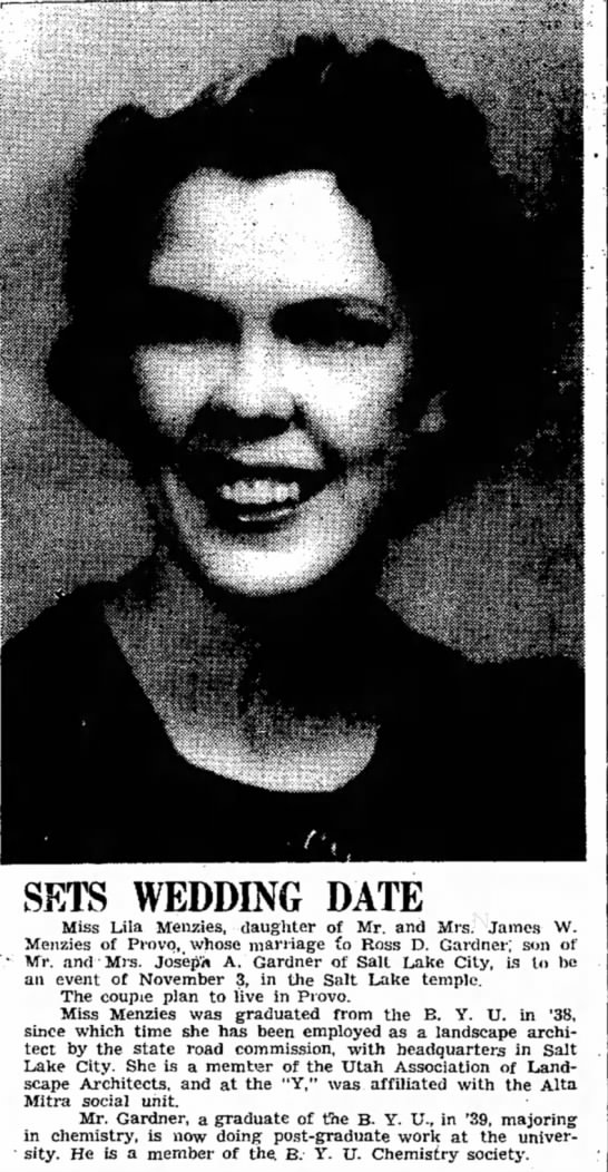 Mom's wedding announcment