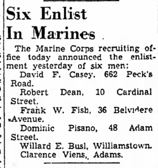 - Rita is of Cal., North J. Six Enlist In Marines...