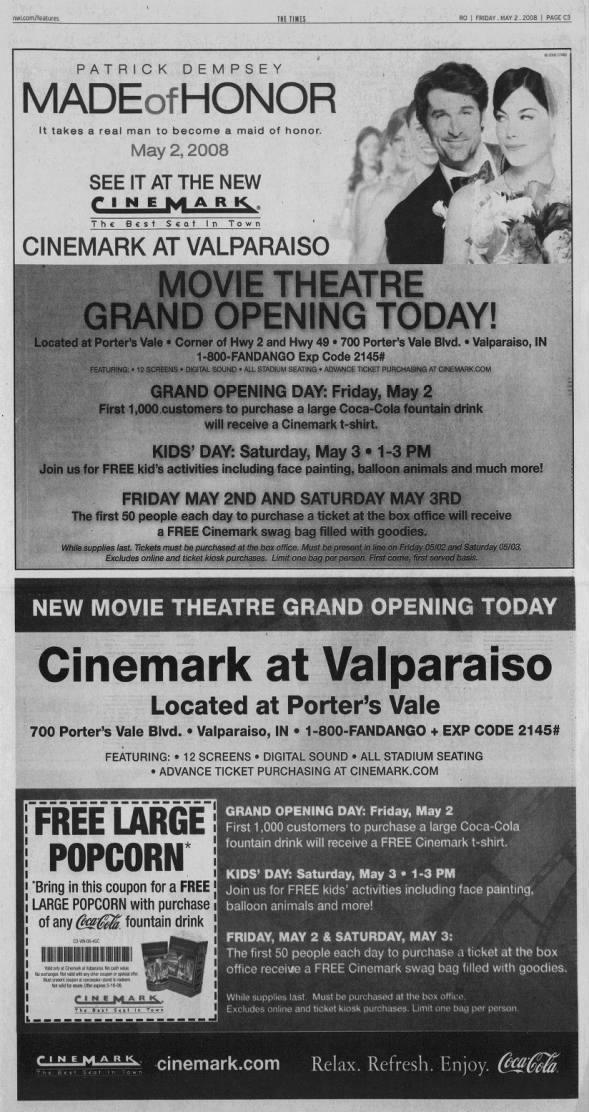 Cinemark at Valparaiso opening