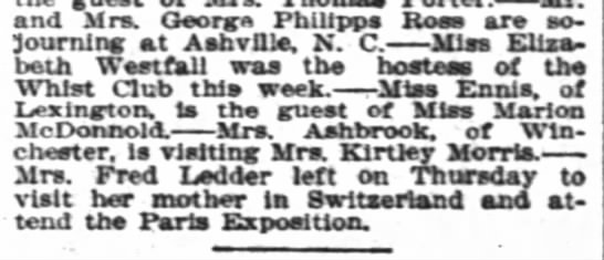 - snd Mrs. George Philippe Rose are sojourning...