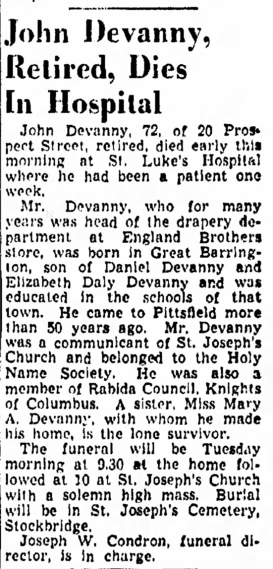 unproven but a shared Great Barrington and Pittsfield connection.