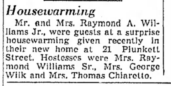 Raymond A. Williams, Jr., Pittsfield, MA - Housei.varmi.ji.g Mr. and Mrs. Raymond A....