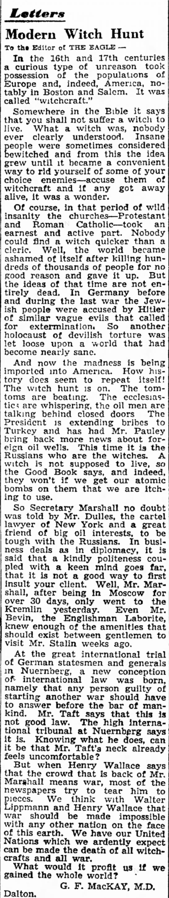 The Berkshire Eagle, 16 April 1947, 8. - home speech that an and give of democracy...
