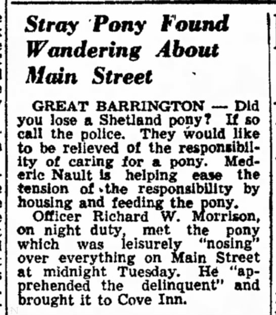 medric stray pony 28Aug1947