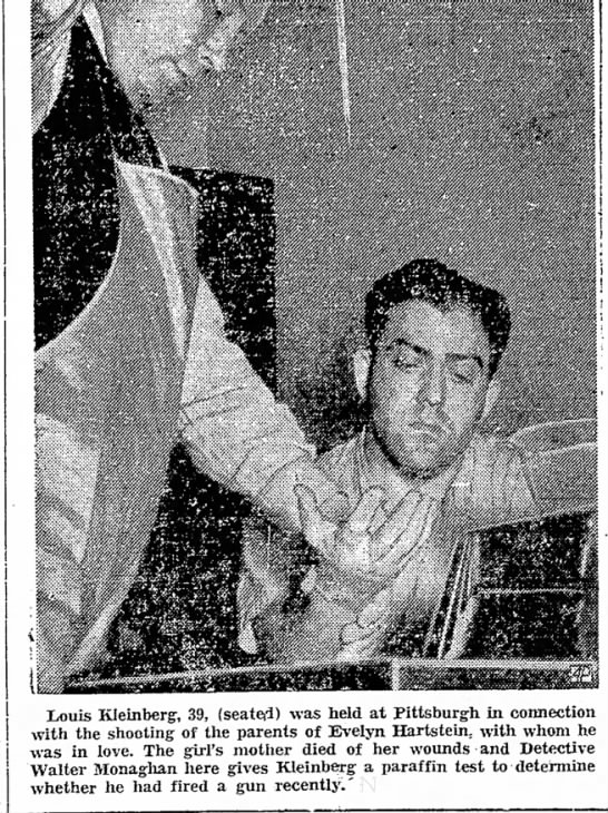 News story about Louis Kleinberg arrest 25 Oct 1940 in The Daily Messenger - Howland, Mary Hall a be Louis Kleinberg, 39,...