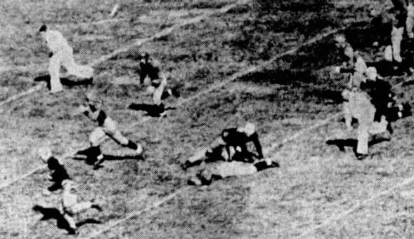 Cardwell TD Nebraska vs Wyoming 1934