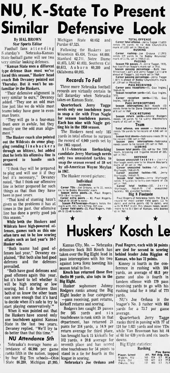 1970.11.12 Thursday practice, KSU week