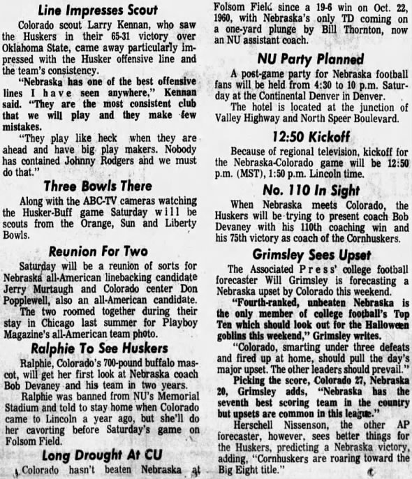 1970.10.28 Wednesday practice, Colorado week 3/3