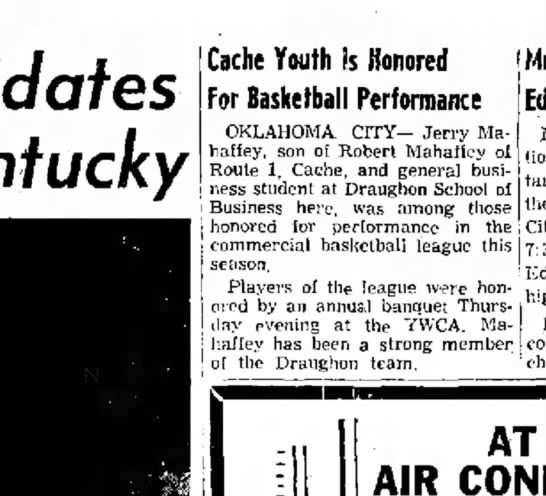 - Kentucky Cache Youth is Honored For Basketball...