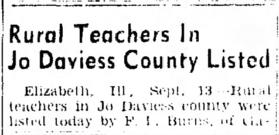 - Rural Teachers In Jo Daviess County Listed...