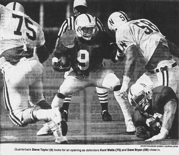 1986 Nebraska football spring game photo