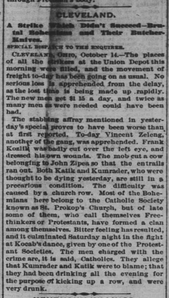 The Cincinnati Enquirer - 15 Oct 1879 - Kocab - -LEVELAND. -LEVELAND. A Strike I4.nl v. -...