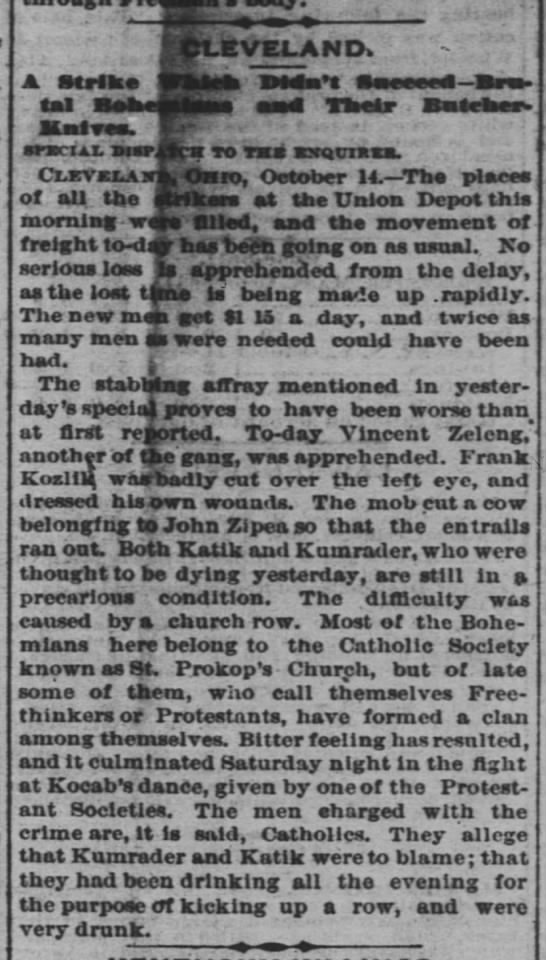 The Cincinnati Enquirer - 15 Oct 1879 - Kocab - -LEVELAND. -LEVELAND. A Strike I4.nl v. -...