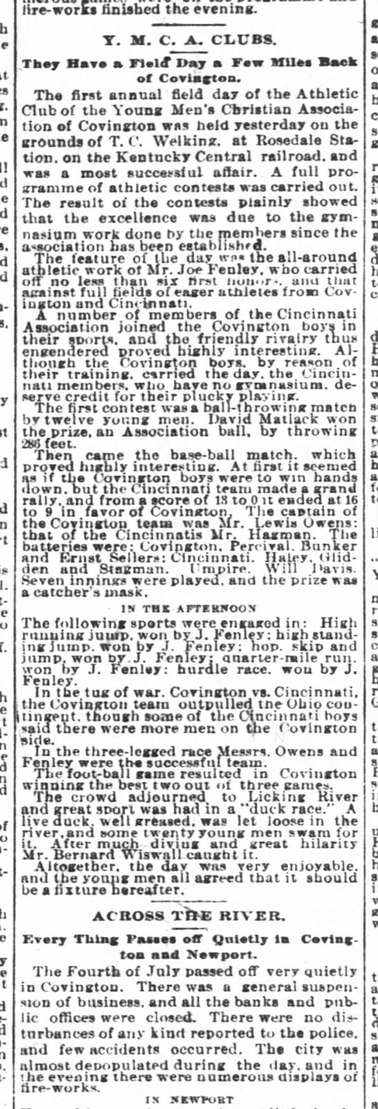 Cincinnati Enquirer 5 July 1889 - is pent-up hard-ooking cart-r.dge whole-Bale...