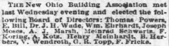 A.J. Marsh a director of the New Ohio Building Association - Tub New Ohio Building AsaoJatlon met last...