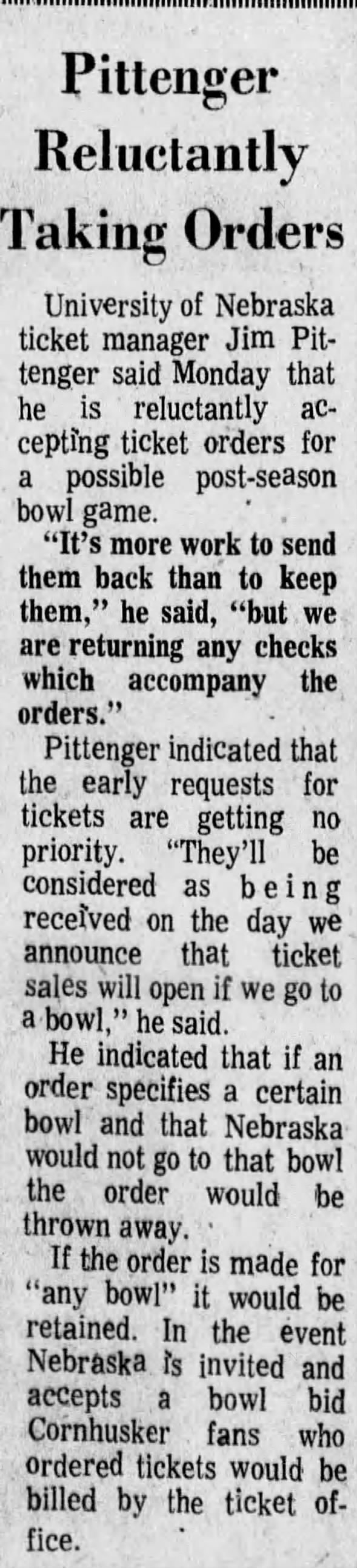 1970.11.02 Bowl ticket requests