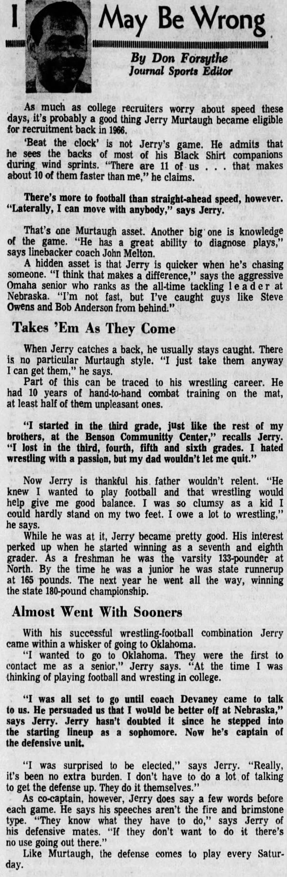 1970.10 Kansas week, Murtaugh feature