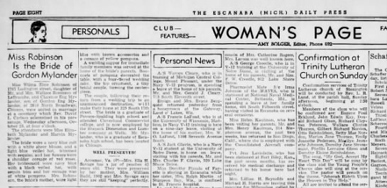 Wilma & Cal marriage