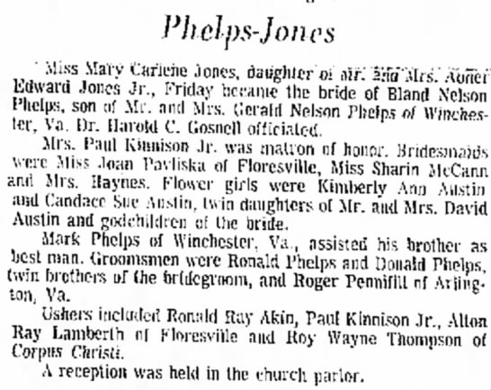 - Pkclps-Jones Miss Mary uanene Jones, daughter...