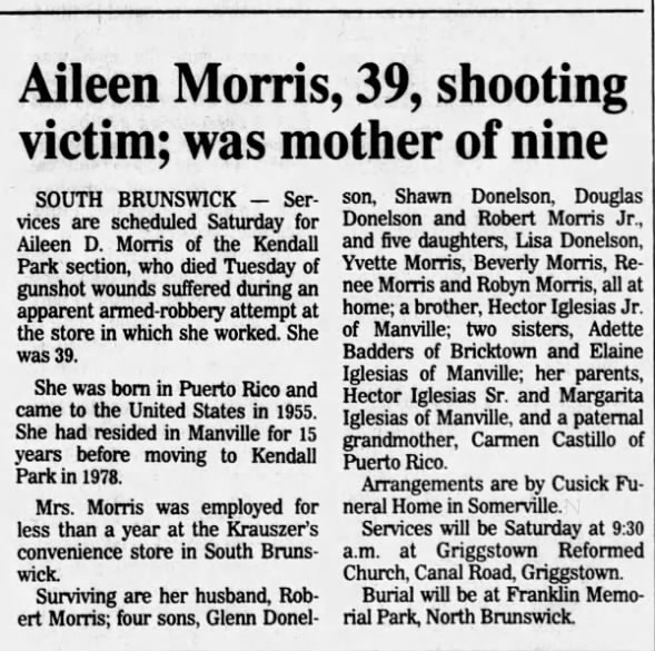 Obituary for Aileen D. Morris (Aged 39)