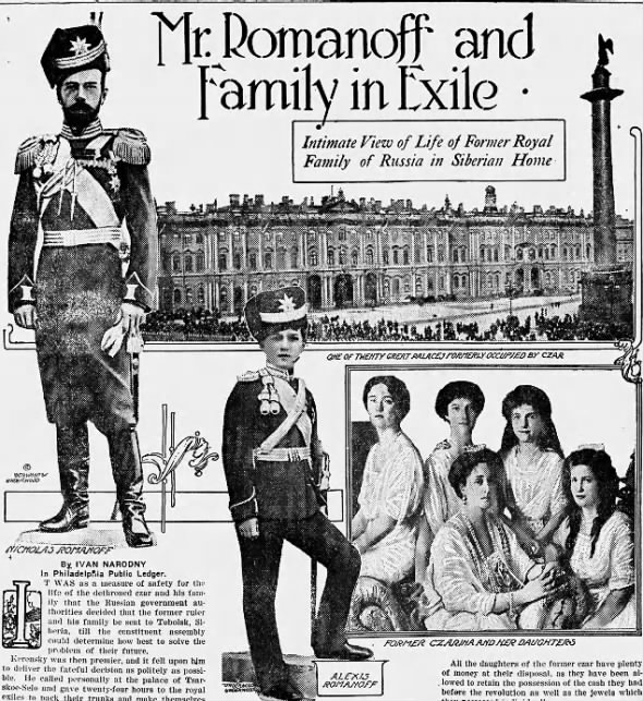 Story on the Romanovs, May 1918