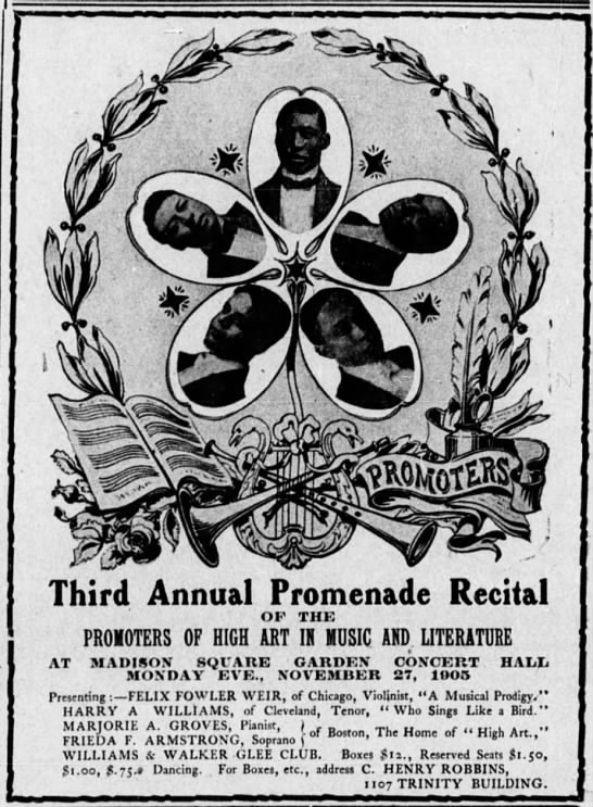 Promenade Recital - Third Annual Promenade Recital OF THE PROMOTERS...