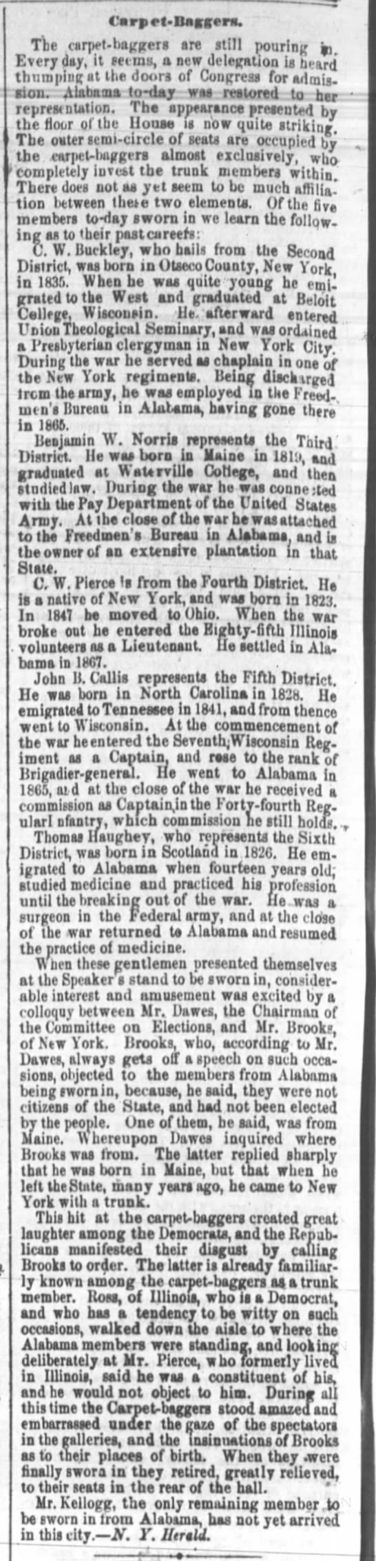 The Cincinnati Daily Equirer (July 24, 1868) - C'a rp rt-Bacgera. Tbe carpW-bairgers are still...