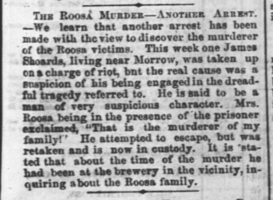 Cincinnati Daily Enquirer18 March 1865 p.3Showard!!! - Thb Roosa MrnDxa Asothe AsanT. We learn that...