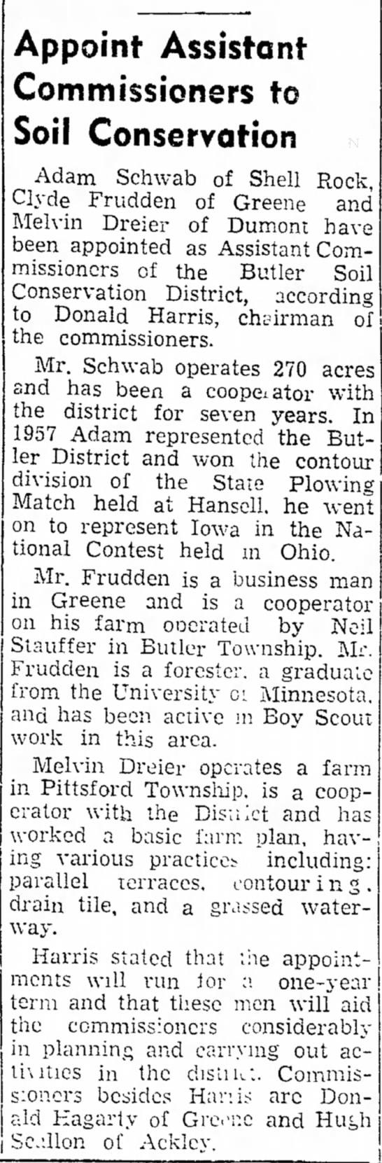 The Greene Recorder, Greene, Iowa Wednesday, March 25, 1959Hugh Scallon