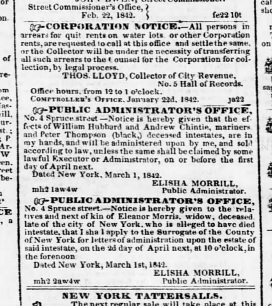 "3 mar 1842 evening post - of re-talia re-talia I.ee, st ; P Ar-""aneements..."