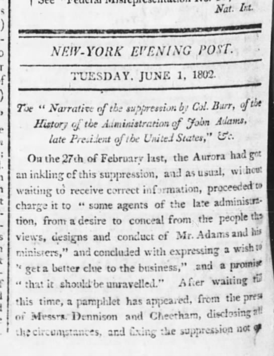 1 june 1802 the evening post