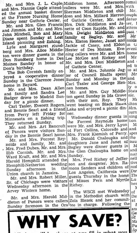 Herron family gathering 30 Jun 1959